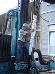Hochschule Würth in Künzelsau: Einbau eines Gewebepackers beim Antreffen von artesich gespanntem Grundwasser
