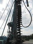 """Kreismülldeponie """"Sauloch"""" Herstellen von Gasbrunnen, HDPE-Ausbau, Durchmesser 220 mm"""