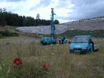Grundwassermessstellen auf einer Deponie