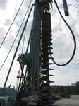 """Kreismülldeponie """"Sauloch"""": Herstellen von Gasbrunnen, HDPE-Ausbau, Durchmesser 220 mm"""