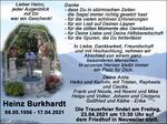 Todesanzeige Heinz Burkhardt