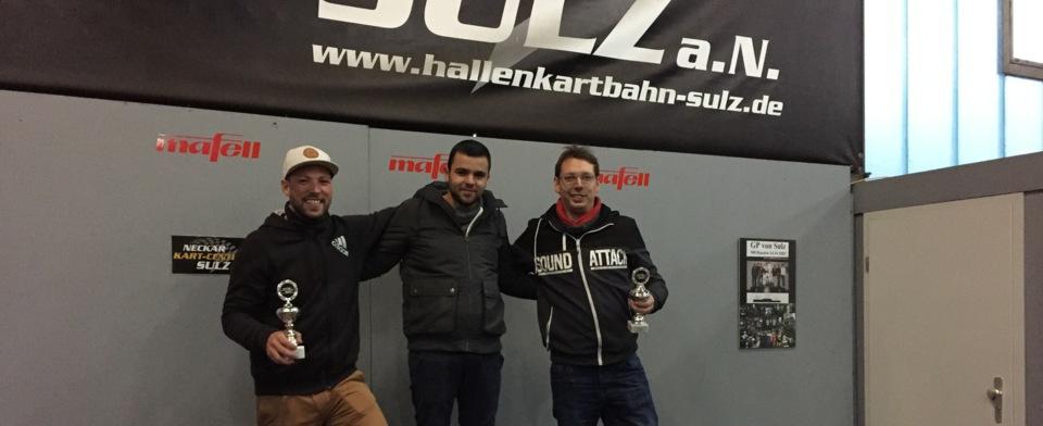 Gewinner beim Kartfahren der Firma Burkhardt Bohrunternehmen