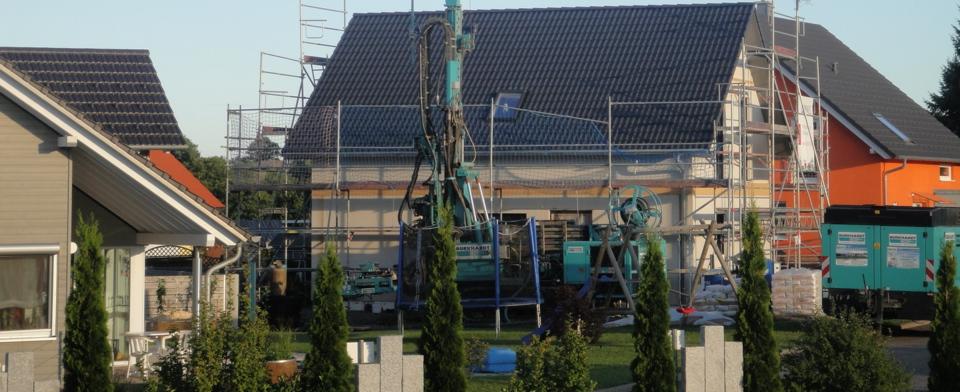 Neubau im Erdwärmepark in Neuweiler